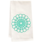 Artgoodies Organic Doily Block Print Tea Towel