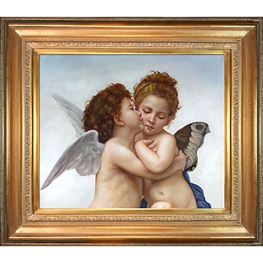 Tori Home First Kiss Bouguereau byWilliam-Adolphe Bouguereau Framed Painting Print