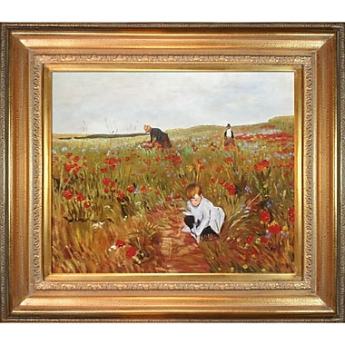 Tori Home Les Coquelicots by Mary Cassatt Framed Painting Print