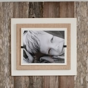 Beach Frames Double Picture Frame; Brown / Cream