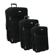McBrine Luggage 3 Piece Luggage Set; Black