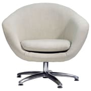 Fox Hill Trading Overman Five Prong Base Comet Barrel Chair; Oatmeal