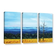 ArtWall Serene Mountain Tops by Gene Foust 3 Piece Painting Print on Wrapped Canvas Set
