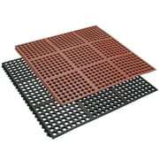 Rubber-Cal, Inc. ''Dura-Chef Interlock'' Kitchen Comfort Rubber Floor Mat (Set of 4)