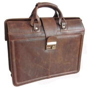 AmeriLeather APC Legal Leather Executive Briefcase; Waxy Brown