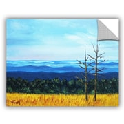 ArtWall 'Serene Mountain Tops' by Gene Foust Painting Print on Canvas; 18'' H x 24'' W x 0.1'' D
