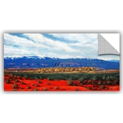 ArtWall 'Mountain Side Livng' by Gene Foust Painting Print on Canvas; 24'' H x 48'' W x 0.1'' D