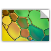 ArtWall 'Stained Glass III' by Cora Niele Graphic Art on Canvas; 32'' H x 48'' W x 0.1'' D