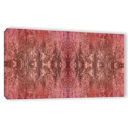 ArtWall Natural Damask by Cora Niele Graphic Art on Wrapped Canvas; 12'' H x 24'' W x 2'' D
