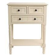 J. Hunt Home Simplify Console Table; Antique White