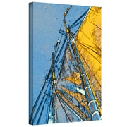 ArtWall Sails At Sea by Linda Parker Wall Art on Wrapped Canvas; 48'' H x 32'' W x 2'' D