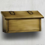 America's Finest Mailboxes Classic Wall Mounted Mailbox with Rain Overhang; Architectural Bronze