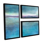 ArtWall Landscape Early by Cora Niele 3 Piece Floater Framed Graphic Art Set