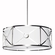 Dainolite Cruz 4 Light Drum Pendant; Polished Chrome