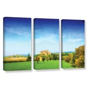 ArtWall Italian Castle by Dragos Dumitrascu 3 Piece Wall Art on Wrapped Canvas Set