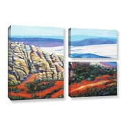 ArtWall Rocky Mountain Living by Gene Foust 2 Piece Painting Print on Wrapped Canvas Set