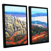 ArtWall Rocky Mountain Living by Gene Foust 2 Piece Floater Framed Painting Print on Canvas Set