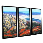 ArtWall Rocky Mountain Living by Gene Foust 3 Piece Floater Framed Painting Print on Canvas Set