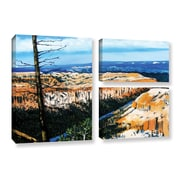 ArtWall 'Mountain Tops Sky' by Gene Foust 3 Piece Painting Print on Wrapped Canvas Set