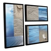 ArtWall Sand Sea by Cora Niele 3 Piece Floater Framed Wall Art Set