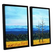 ArtWall Serene Mountain Tops by Gene Foust 2 Piece Floater Framed Painting Print on Canvas Set