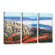 ArtWall Rocky Mountain Living by Gene Foust 3 Piece Painting Print on Wrapped Canvas Set