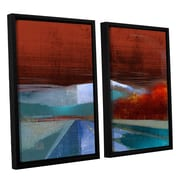 ArtWall 'Landscape I' by Greg Simanson 2 Piece Framed Graphic Art on Canvas Set