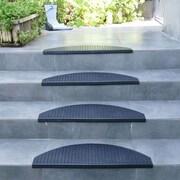 Rubber-Cal, Inc. ''Block-Grip'' 29.75'' Step Non-Slip Rubber Stair Tread Mat (Set of 6)