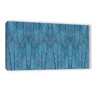 ArtWall 'Leaf Design' by Cora Niele Graphic Art on Wrapped Canvas; 24'' H x 48'' W x 2'' D