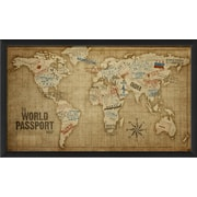 The Artwork Factory The World Passport Map Framed Graphic Art