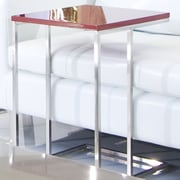Pangea Home Smash End Table; Red