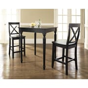 Crosley 3 Piece Pub Table Set; Black