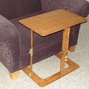 Spiderlegs Portable Folding Couch Tray Table; Warm Oak