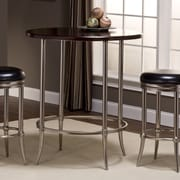 Hillsdale Maddox Dining Table; Dull Nickel