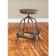Largo Abbey Adjustable Height Swivel Bar Stool; 24''