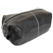 Floto Imports Venezia Leather Toiletry Bag; Black
