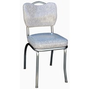 Richardson Seating Retro Home Side Chair; Grey