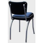 Richardson Seating Retro Home Side Chair; Black