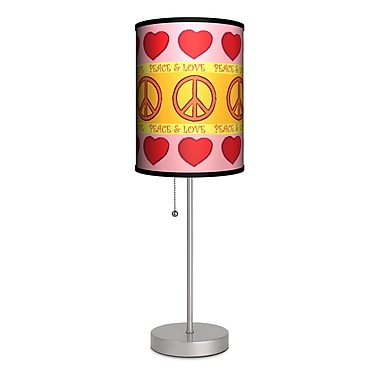 Lamp-In-A-Box Peace and Love 20'' Table Lamp