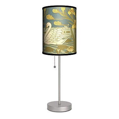 Lamp-In-A-Box Decor Art Swans 20'' Table Lamp