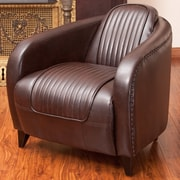 Home Loft Concepts Manado Channeled Leather Club Chair