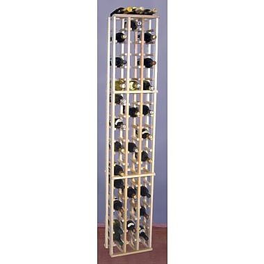 Wine Cellar Premium Redwood 63 Bottle Floor Wine Rack