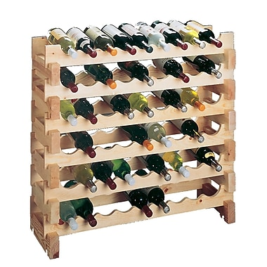 Wine Cellar Country Pine 9 Bottle Floor Wine Rack (Set of 2)