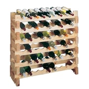 Wine Cellar Country Pine 9 Bottle Floor Wine Rack (Set of 2)