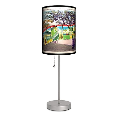 Lamp-In-A-Box Travel Indiana Postcard 20'' Table Lamp