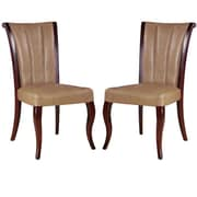 Ceets Side Chair (Set of 2); Leather - Tan