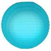 Luminarias 6 Piece Round Paper Lantern Set; Turquoise