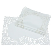 Xia Home Fashions Dainty Lace Placemat (Set of 4); White