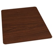 ES Robbins Wood Veneer Style Hard Floor Straight Edge Chair Mat; Mahogany