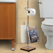 Better Living Products Free Standing RichWood Bamboo Toilet Caddy; Bamboo